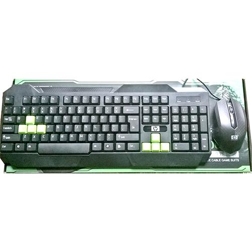 Bộ bàn phím chuột game thủ HP H-8000