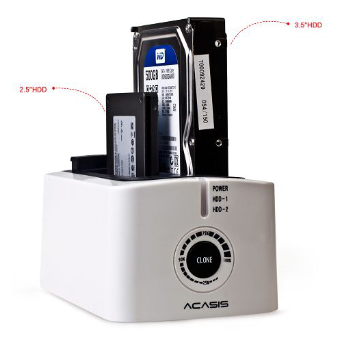 Box HDD Docking Acasis BA-12US: USB 3.0 / Dual Sata3