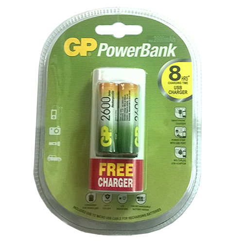 Pin sạc AA 2600mAh GP Powerbank 260AAHC