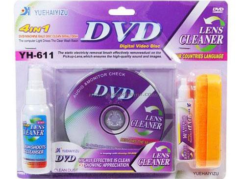 Bộ vệ sinh lau đầu đĩa DVD/VCD (vệ sinh lau đĩa từ cd/dvd và mắt ổ quang)