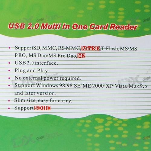 USB 2.0 All-in-One Orange 536 Card Reader