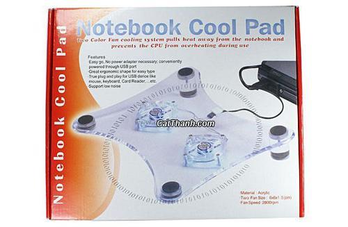 Đế tản nhiệt laptop foxdigi 36 - 3 quạt làm mát laptop