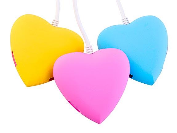 Bộ chia 4 cổng usb hình trái tim