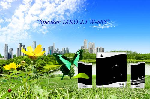 Loa máy tính 2.1 Tako W-888