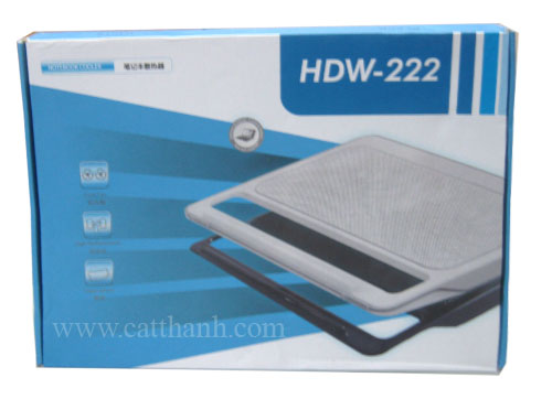 Đế tản nhiệt laptop nhựa mica HDW-222