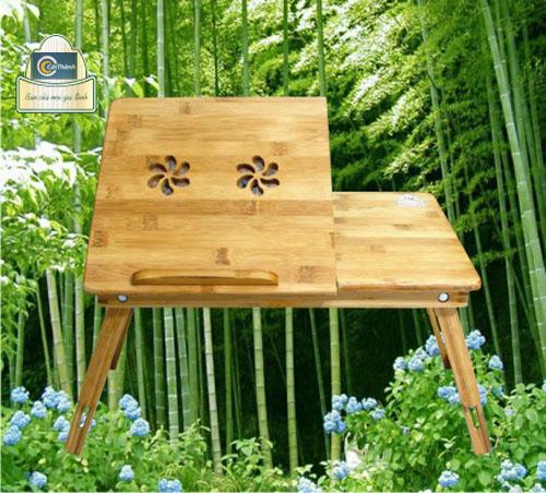 Bàn Tre TITI-85 - Bàn laptop gỗ tre