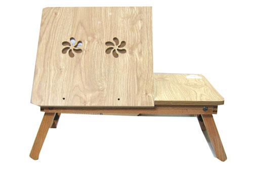 Bàn laptop gỗ Sồi loại có quạt