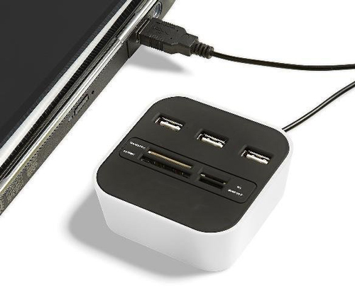Usb hub card reader combo
