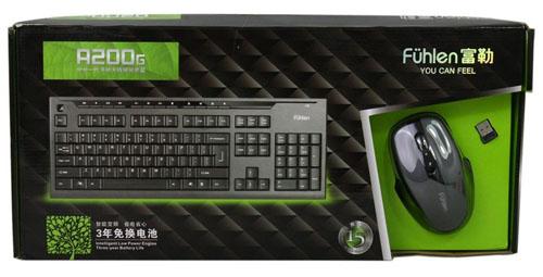 Bộ bàn phím và chuột không dây Fuhlen A200G