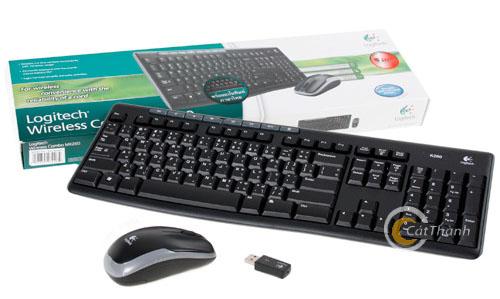 Bộ bàn phím chuột không dây Logitech MK260