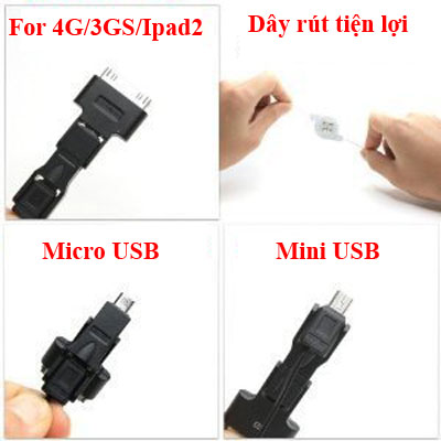 Dây cáp FOXDIGI fd-1495 sạc điện thoại Ipad2,Iphone