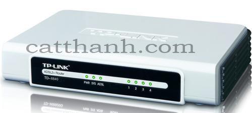 Modem ADSL2 TP-Link TD-8840 + 4 port Switch, Modem Tplink 4 cổng