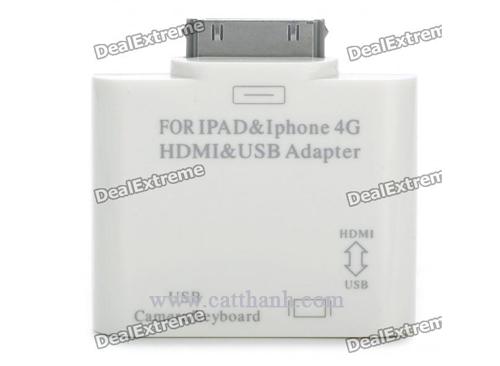 Bộ chuyển HDMI + USB cho Ipad Iphone