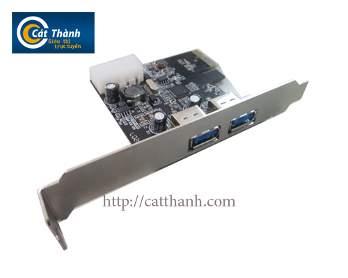 Card pci express 2 cổng usb 3.0