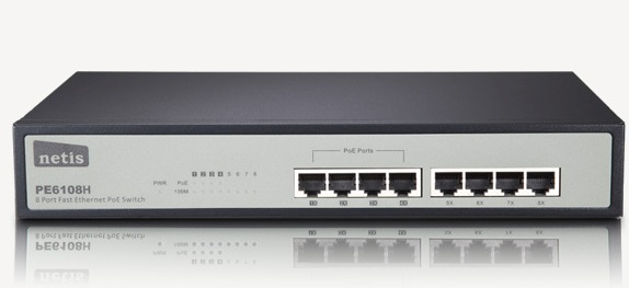 Switch PoE 8 Port PE6108H Fast Ethernet