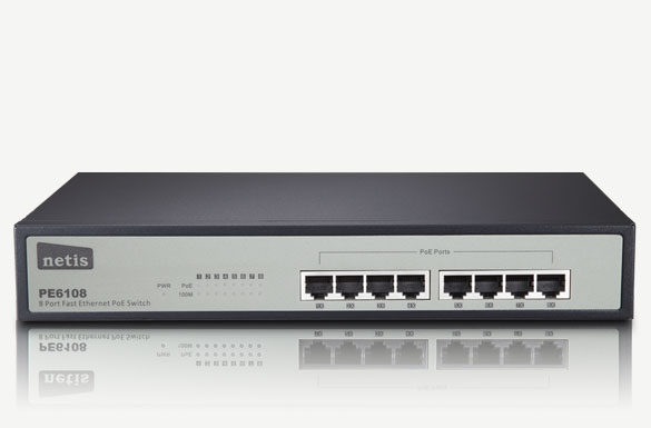 Switch 8 Port PoE PE6108 Netis Fast Ethernet