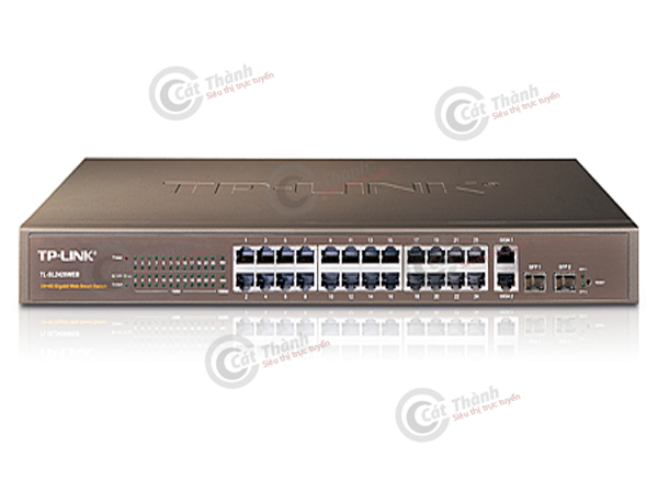 Switch Smart Web 24 cổng 10/100Mbps 4 cổng Gigabit TL-SL2428
