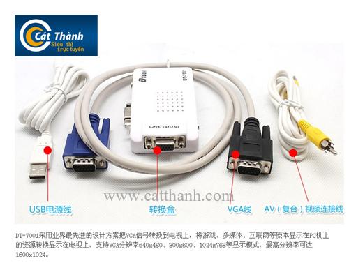 Bộ chuyển VGA ra AV Dtech 7001