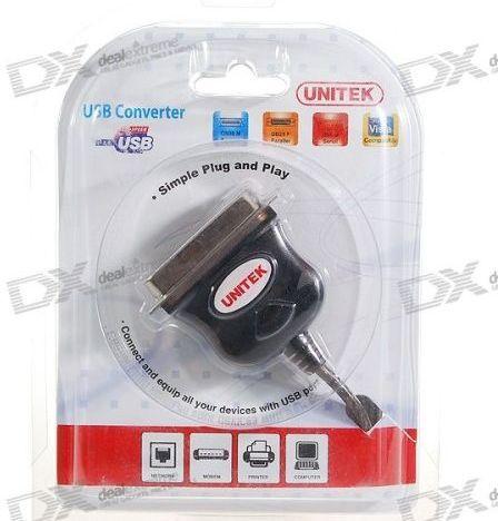 Cáp USB to LPT PARALLEL UNITEK Y120