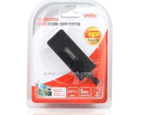 Cáp chuyển đổi USB 3.0 to HDMI Full HD 1080P Unitek Y-3702
