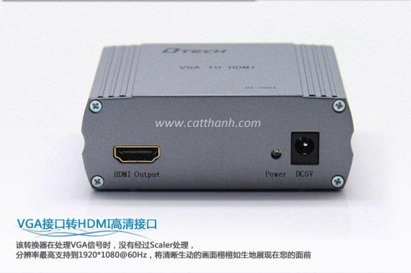 BỘ CHUYỂN ĐỔI TÍN HIỆU VGA SANG HDMI AUDIO DTECH DT-7004