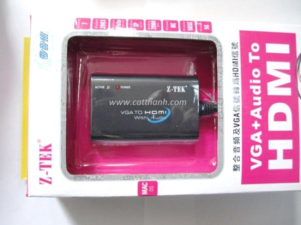 BỘ CHUYỂN ĐỔI VGA + AUDIO TO HDMI ZTECH ZE-577