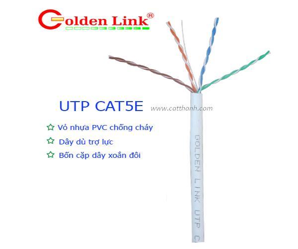 Cáp mạng GOLDENLINK UTP CAT5E trắng