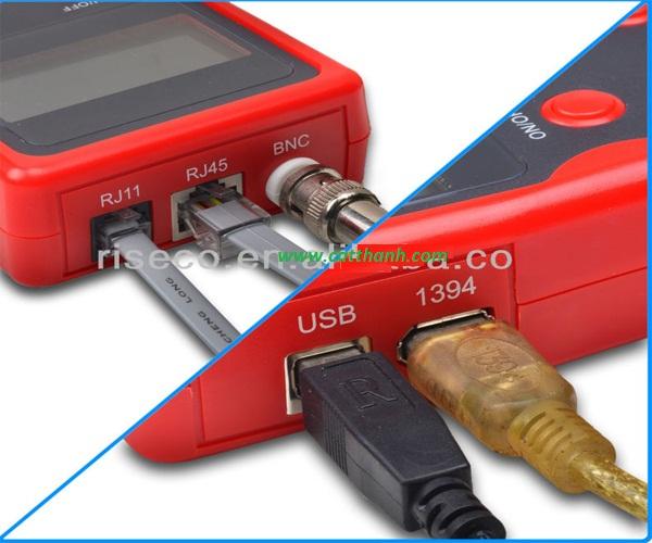 Bộ test dây cáp 5 IN 1: cáp  MẠNG ,ĐIỆN THOẠI , USB, ĐỒNG TRỤC, cáp 1394