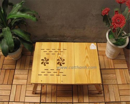 Bàn kê laptop gỗ Thông Titi TS01