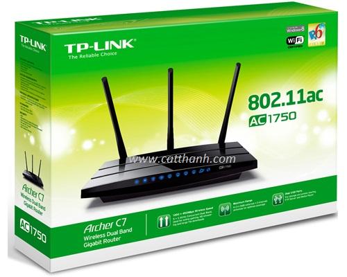 Bộ phát wifi Gigabit băng tần kép Tp-Link AC1750 Archer C7