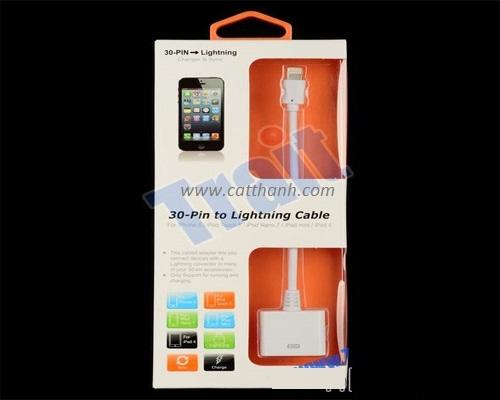 Cổng chuyển đổi nối 30 pin lightning cho Iphone 5, Iphone 4, Ipad mini
