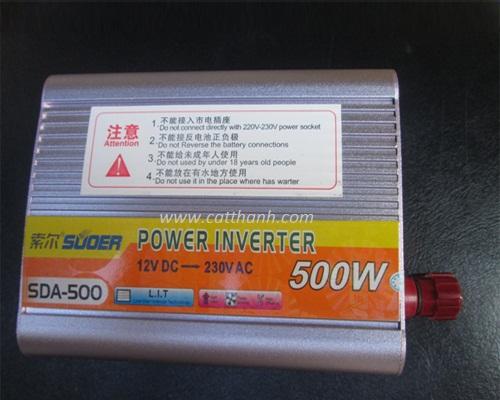 Bộ chuyển đổi nguồn 12V DC sang 220V AC 500W - Bộ đổi nguồn 12V DC sang 220V AC