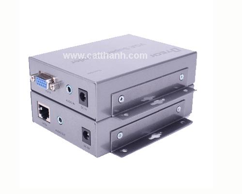 Thiết Bị Khuếch Đại Tín Hiệu Cáp VGA Qua Cáp Mạng 300 Mét DTECH DT-7020