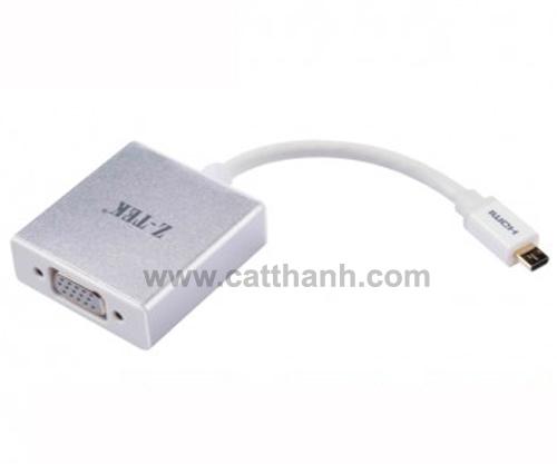 Cáp chuyển đổi micro HDMI sang VGA Audio ZTEK ZY098