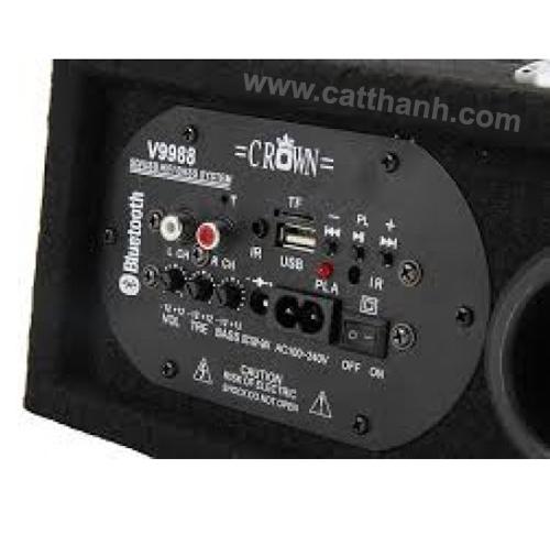 Loa Crown cắm USB cho ô tô hình vuông V9988