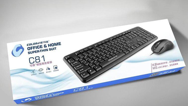 Bộ bàn phím và chuột colorvis C81