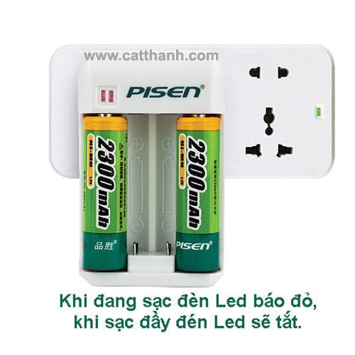 Sạc Pisen TS – LC003 dùng cho Pin Ni-MH AA/AAA