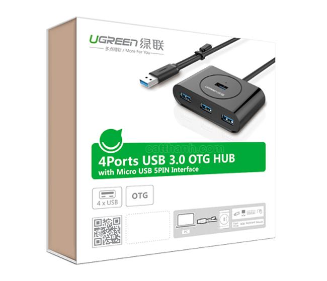 Bộ chia 4 cổng USB 3.0 Hub có OTG Ugreen UG-20292