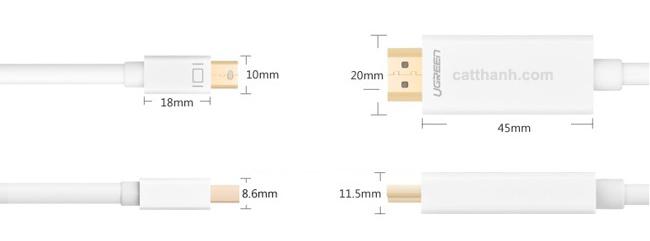 Cáp chuyển đổi mini diplayport to HDMI 2 mét Ugreen UG-10404
