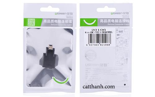 Đầu chuyển đổi Micro HDMI to HDMI Ugreen 20106
