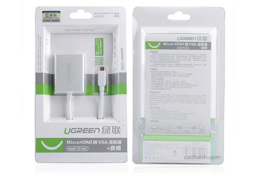 Cáp chuyển đổi Micro HDMI sang VGA và Audio Ugreen UG-40222
