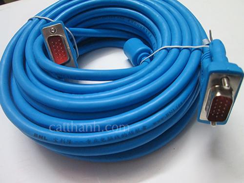 Cáp VGA 10m xanh FoxDigi BNL FDBNL7