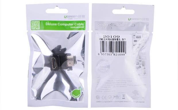 Đầu nối HDMI vuông góc 90 độ chính hãng Ugreen 20109
