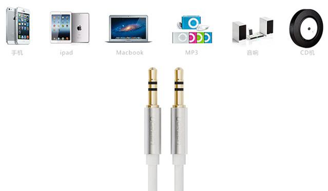 Cáp audio 3.5mm dài 0,5m Ugreen UG-10732 mạ vàng 24k