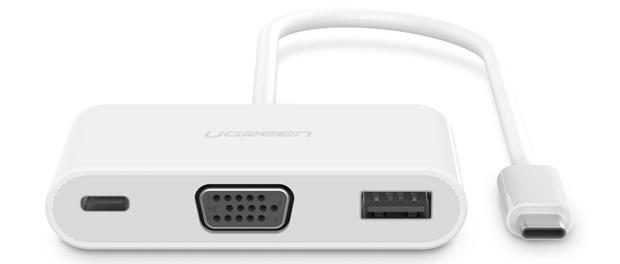 Cáp chuyển USB Type C sang USB và VGA Ugreen UG-30376