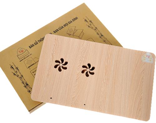 Bàn kê laptop gỗ thông có quạt Titi TS02