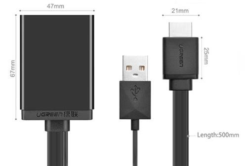 Cáp chuyển đổi HDMI sang Displayport Ugreen UG-40238