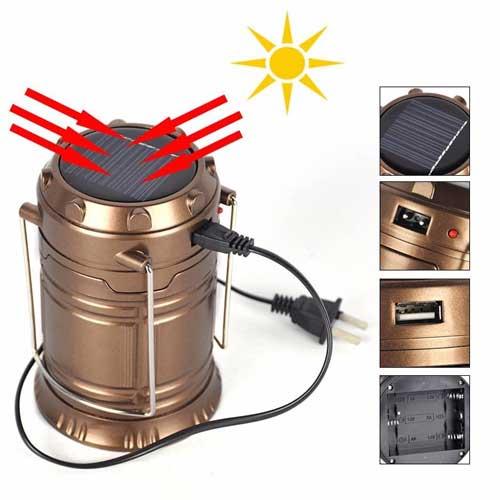 Đèn sạc năng lượng mặt trời 6 LED Foxdigi G-85