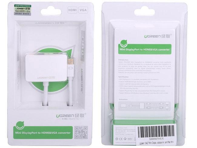 Cáp chuyển Mini Displayport to HDMI và VGA Ugreen UG-10427
