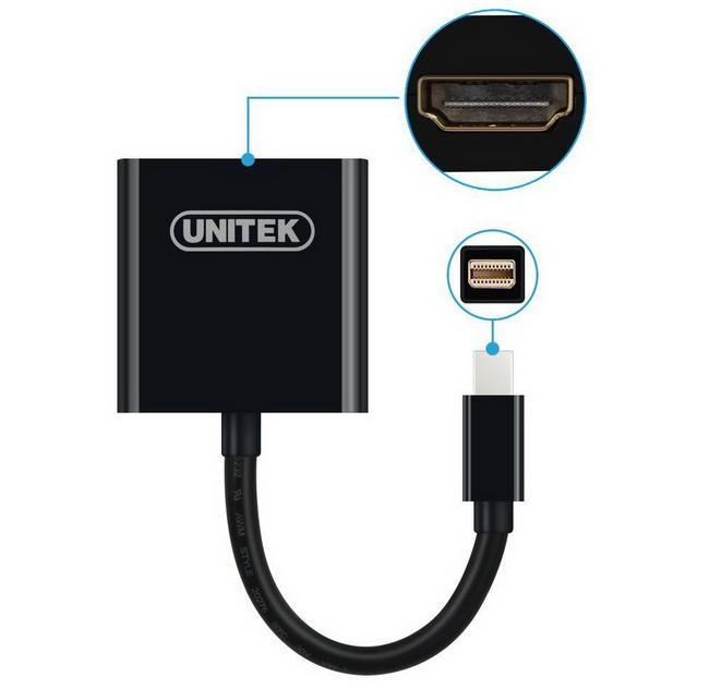 Cáp chuyển mini Displayport sang HDMI unitek Y-6325WH